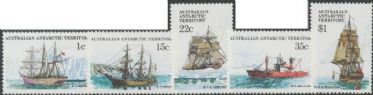 AAT 21/05/1980 Ships definitives part 2 set of 5 (SG37, 41, 44, 47 & 52)